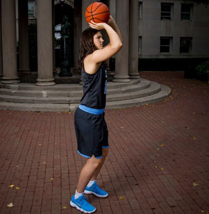 Camille Zimmerman recently experienced a taste of basketball stardom when the Columbia University forward participated in pre-season training camp with the Minnesota Lynx, the reigning champions of the Women's National Basketball Association.