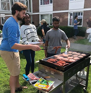 A cookout was one of many events hosted by Christian Union at Dartmouth during its Freshman Welcoming Campaign.